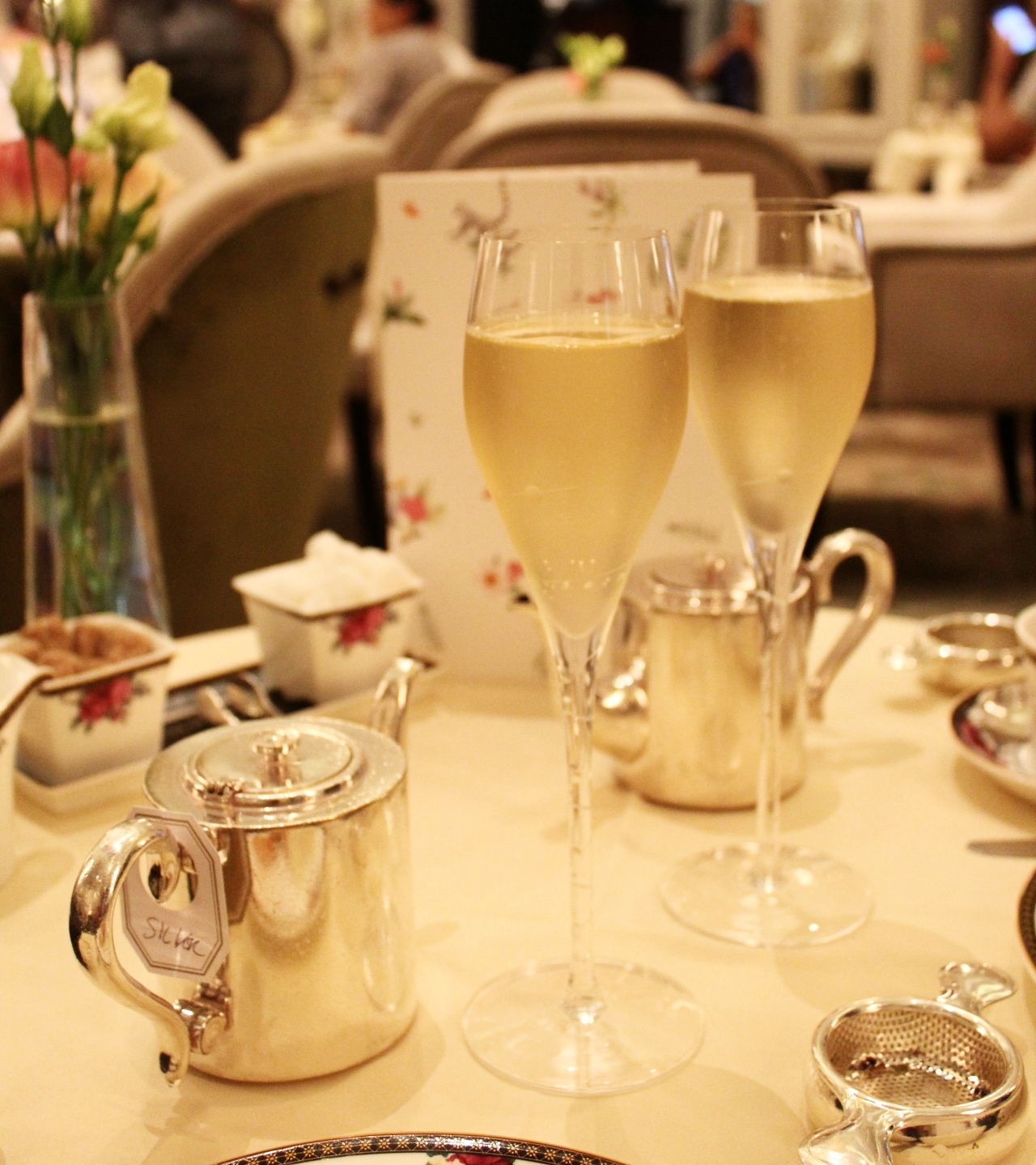 Champagne afternoon tea at the Langham London
