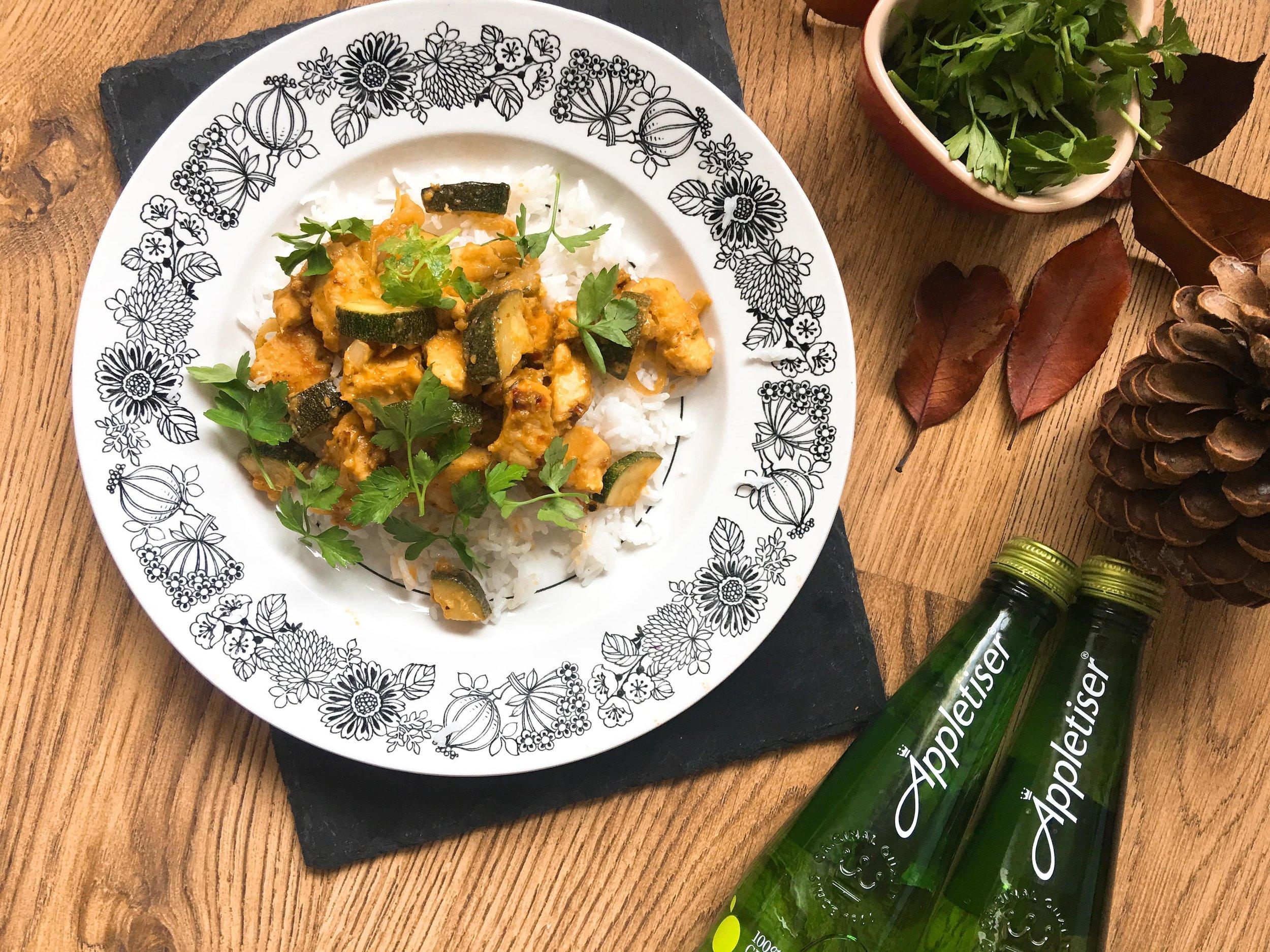 Zanzibar Chicken Curry with Courgette - Autumn Recipe
