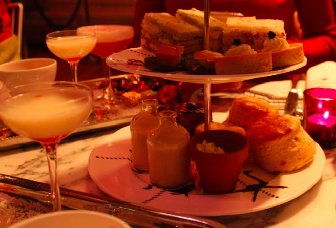 sanderson hotel tipsy evening tea