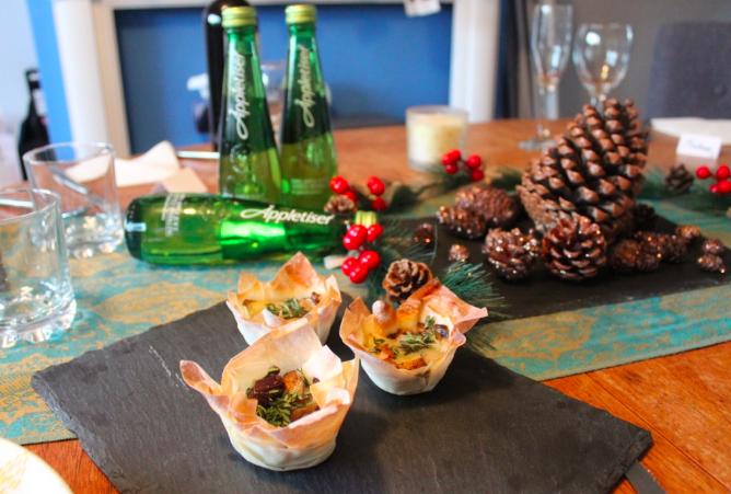 Vegetarian Christmas canape recipes