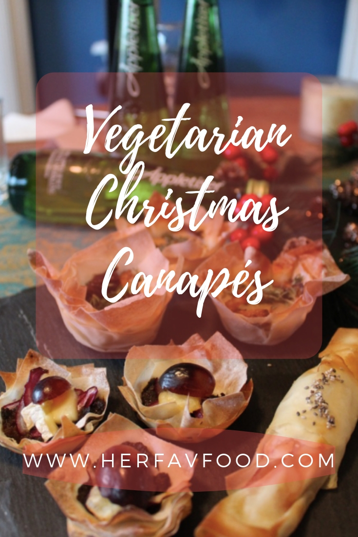 Vegetarian Christmas Canapés