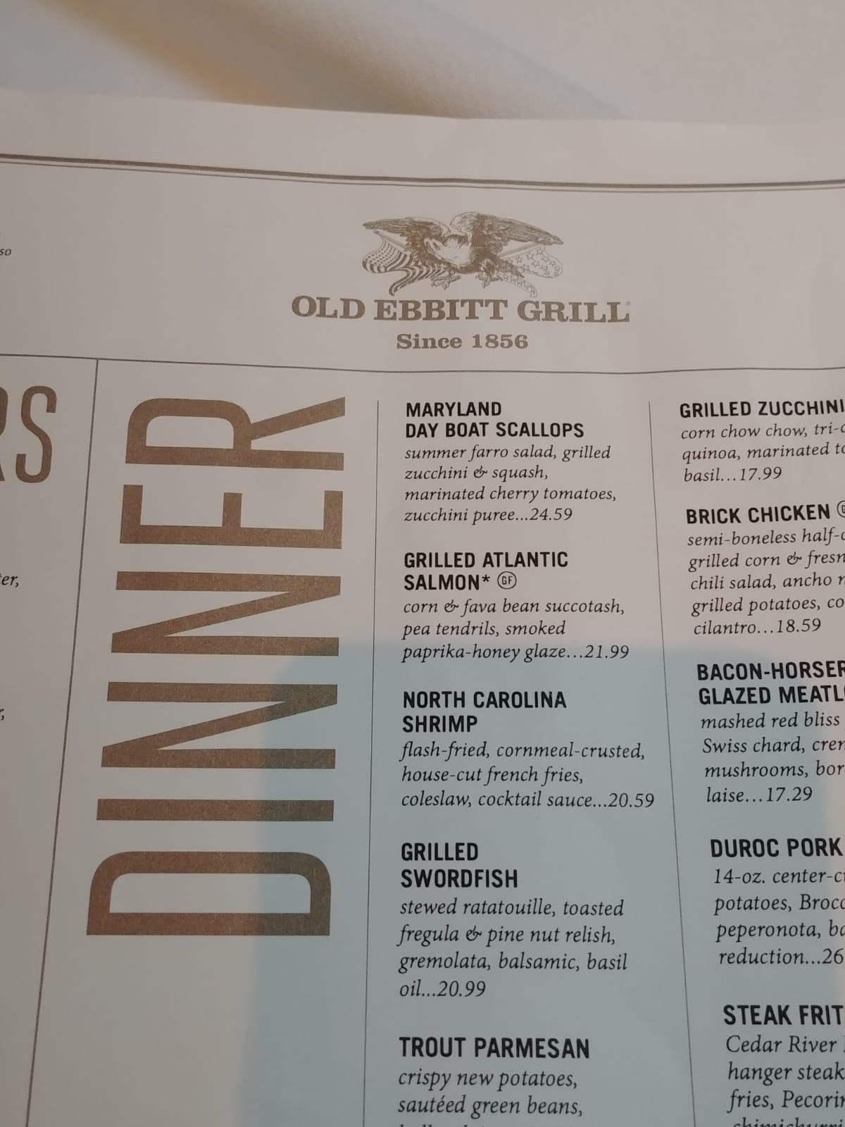 Old Ebbitt Grill America Washington DC Restaurant