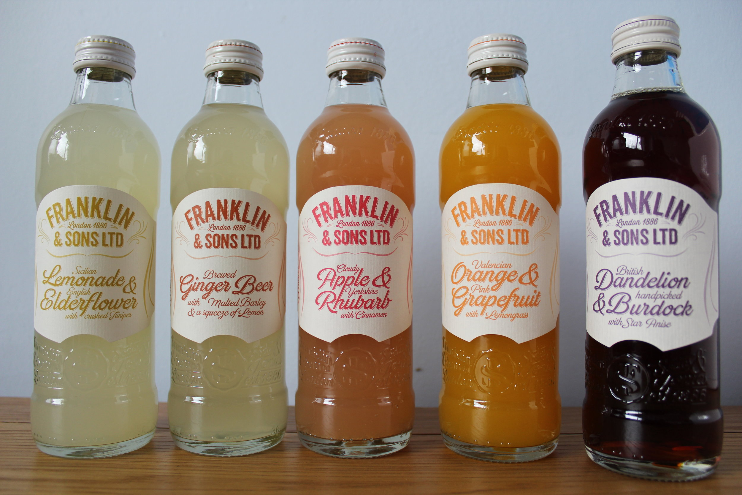 Franklin & Sons soft drinks and infused sodas