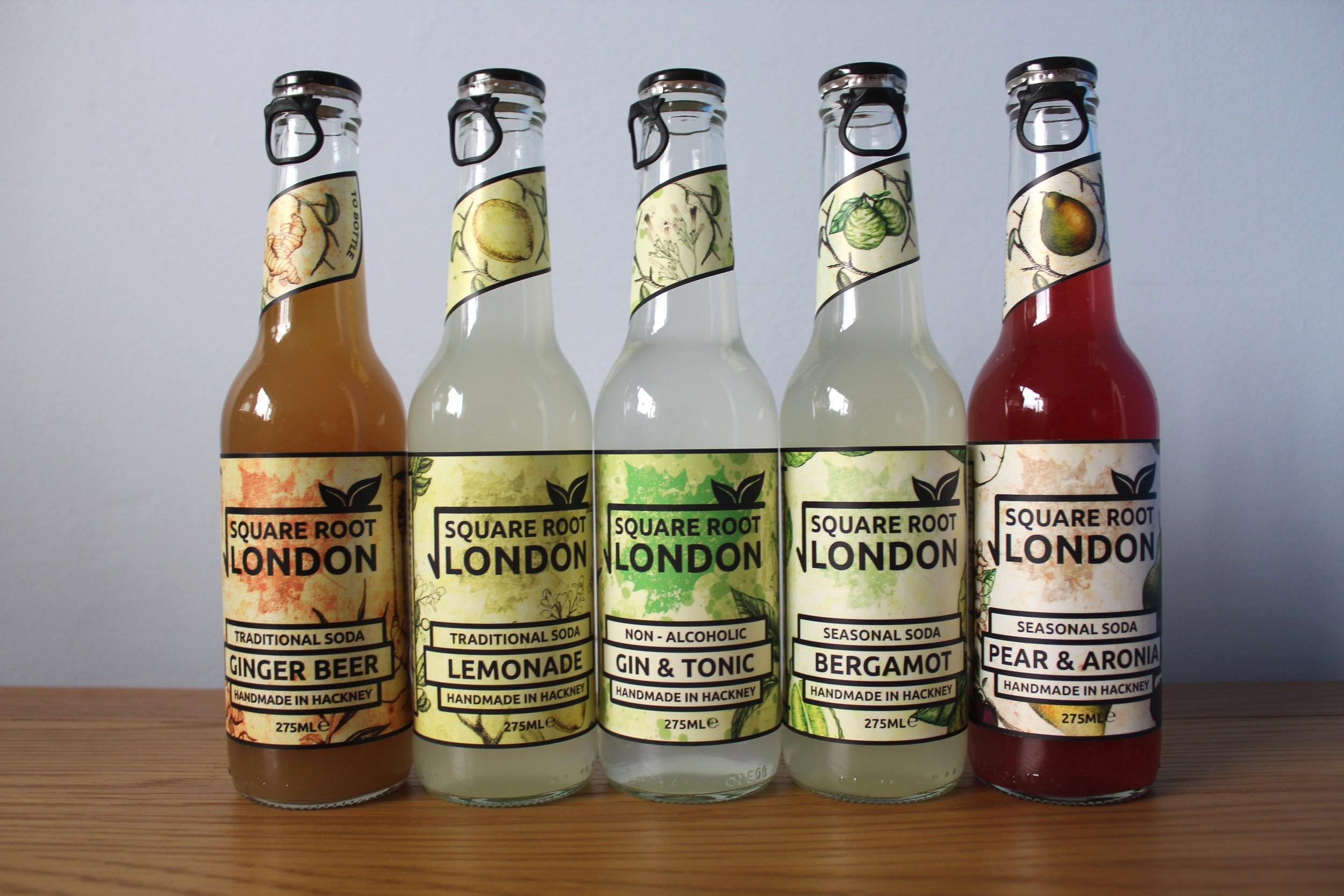 Square Root Soda drinks London Hackney made