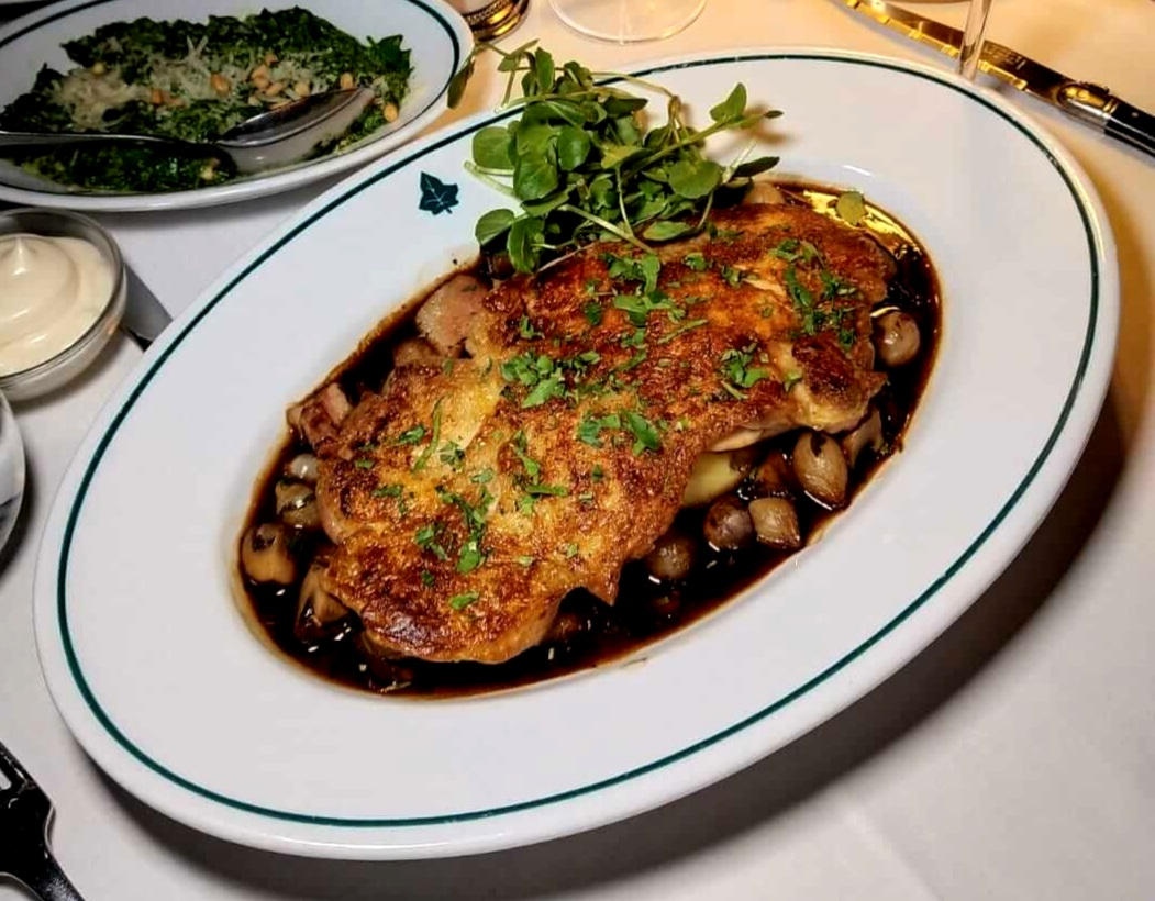 chicken bourguignon The Ivy in the Park Canary Wharf
