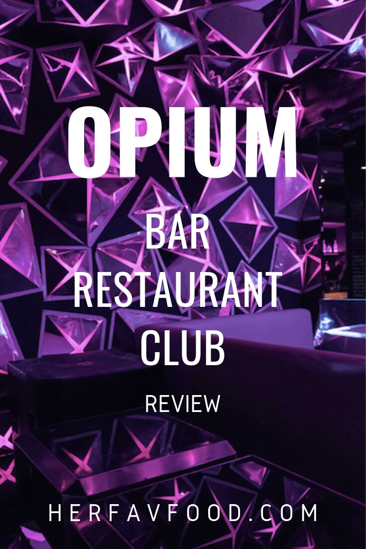Opium London set menu review