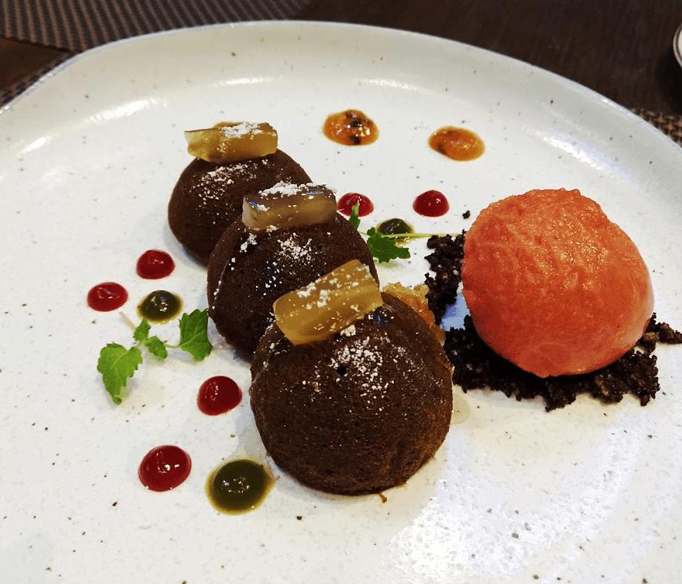 Baluchi dessert Lalit London hotel