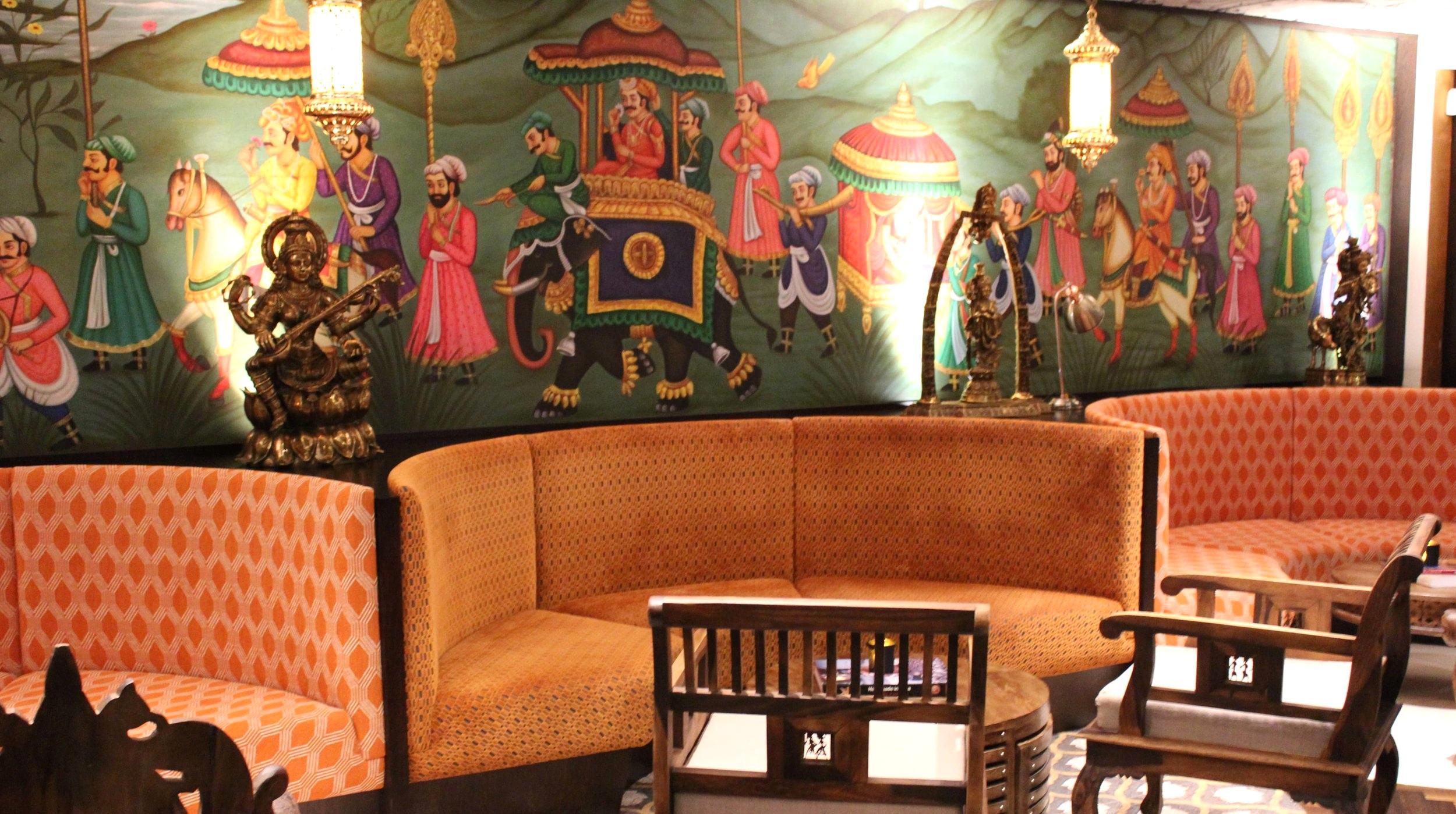 Choki Dhani London bar area