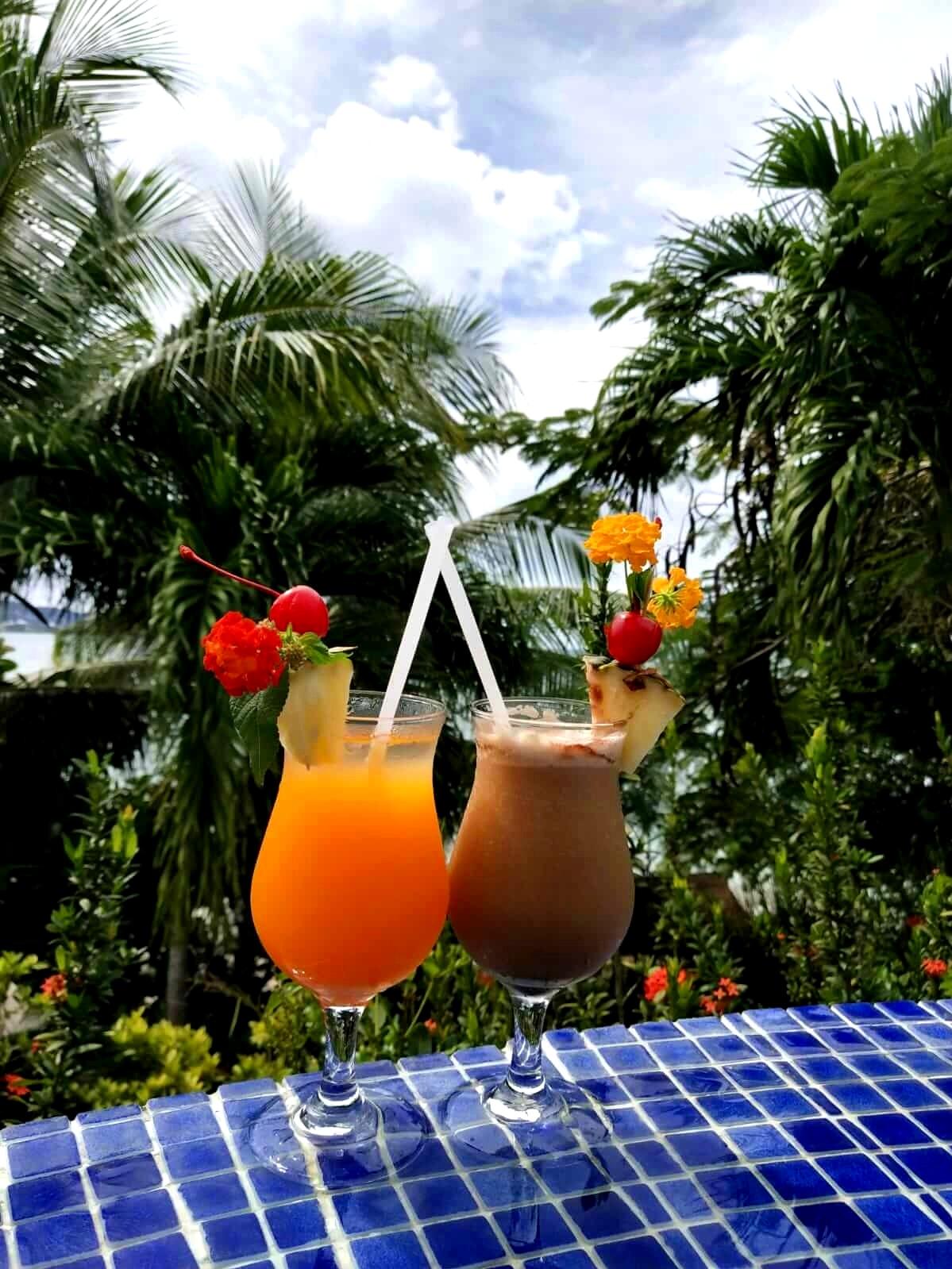 Calabash Cove St Lucia cocktails