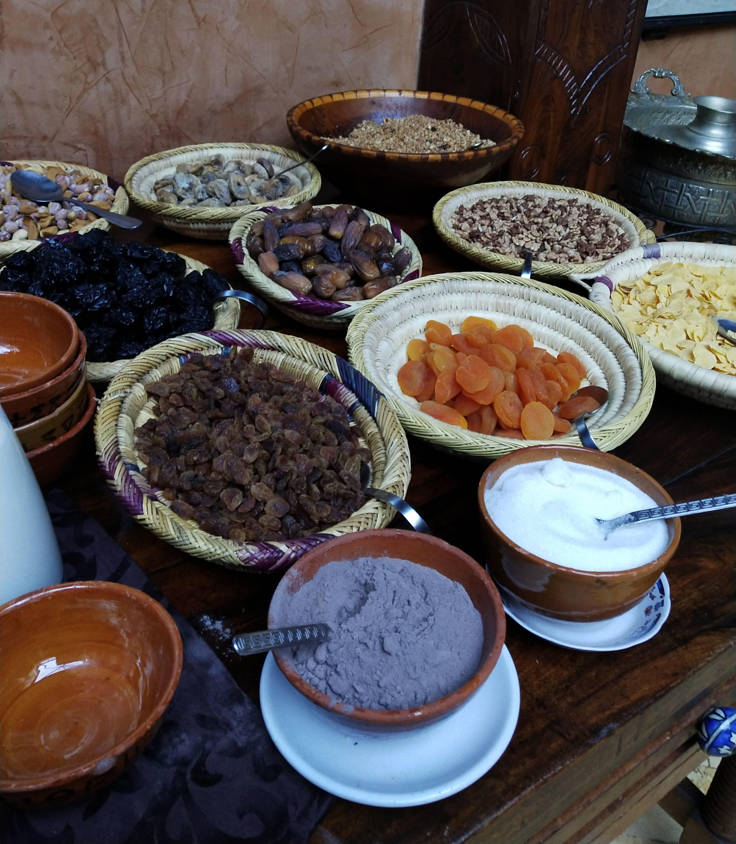 Breakfast at Kasbah du toubkal