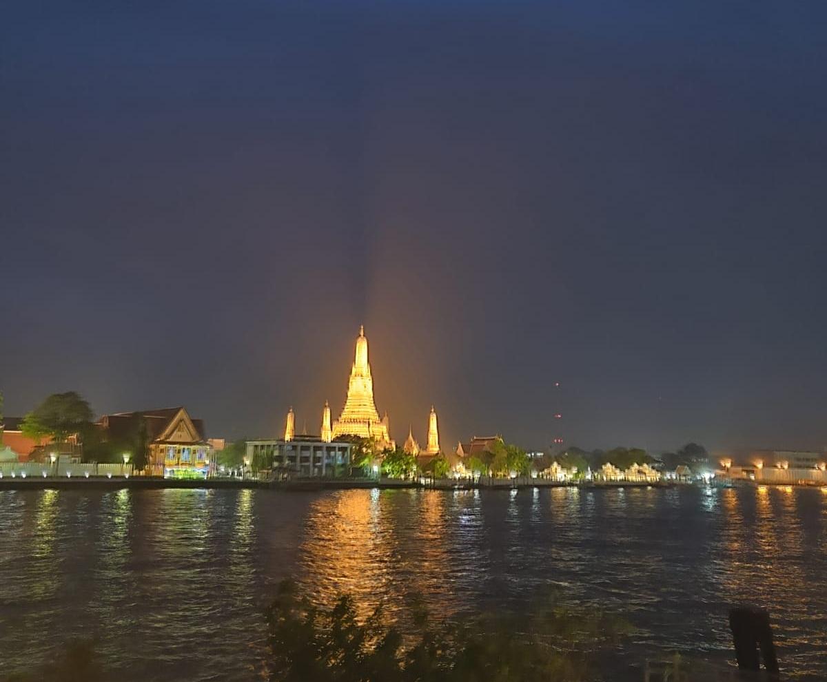 Wat Arun across the river Bangkok