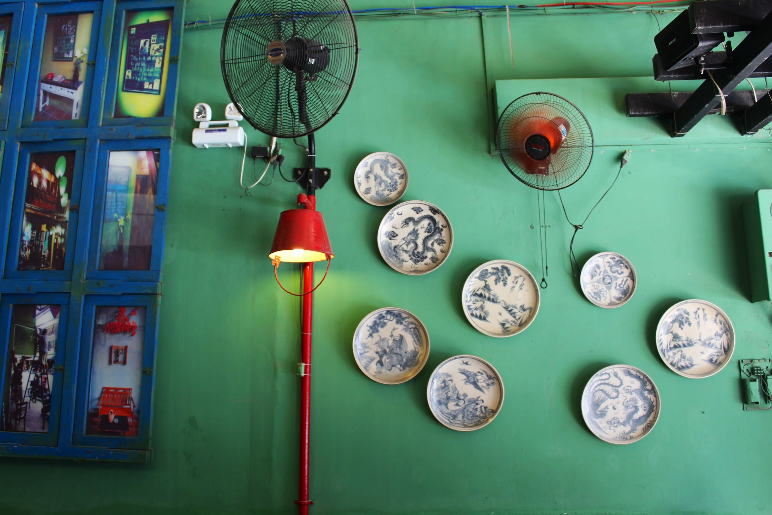 The quirky decor and much needed fans inside Mix Nha Trang