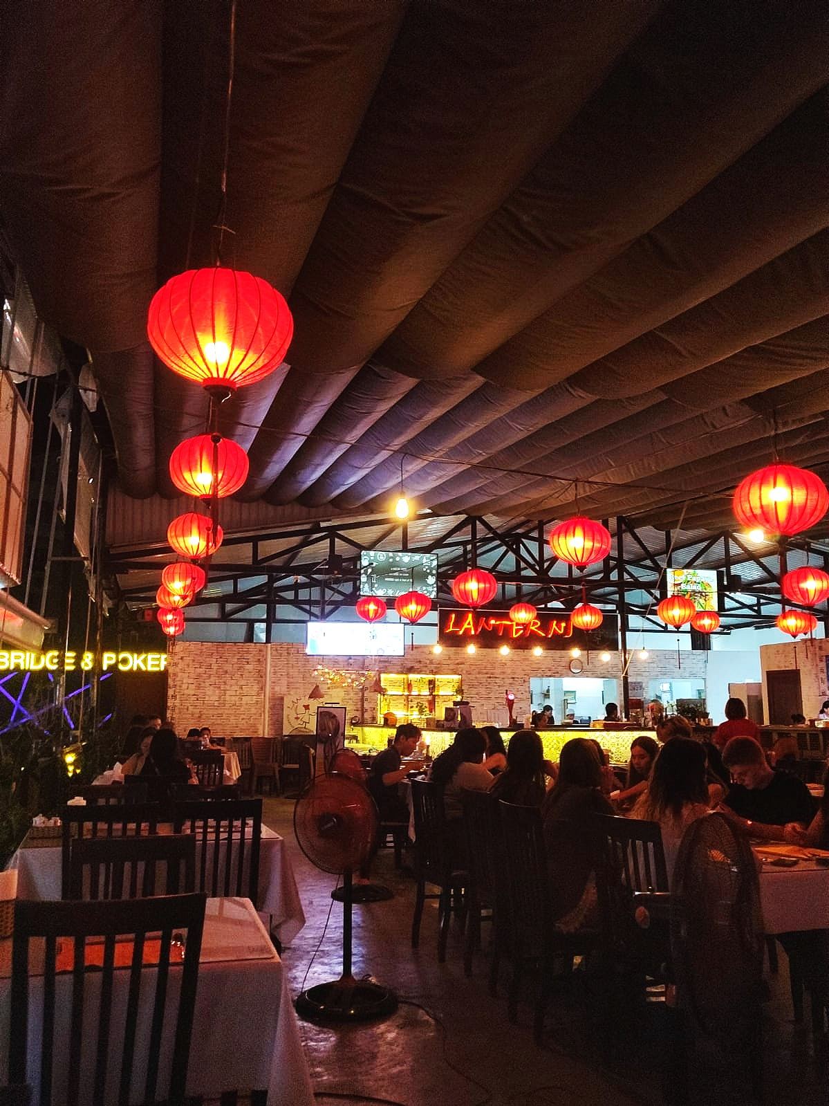 Lanterns has a lovely ambience and a spacious seating area