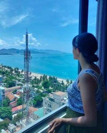 Views of Nha Trang Beach from Aaron Hotel
