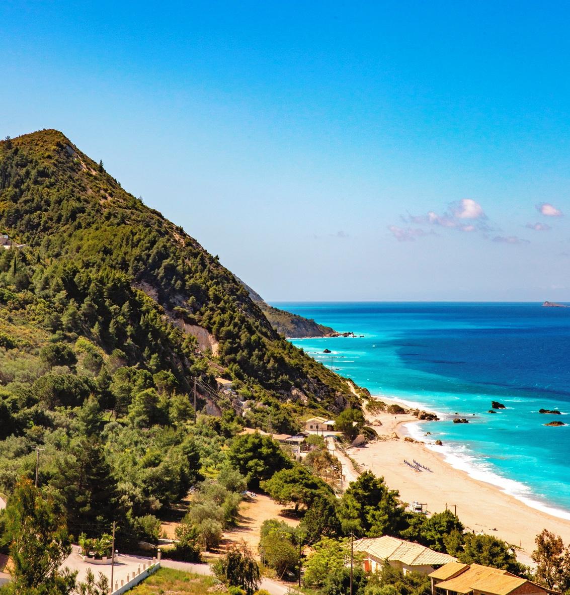 Lefkas greek island