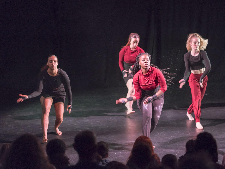 Jasmin, Imogen, Cameron and Josie performing 'Kenjo'