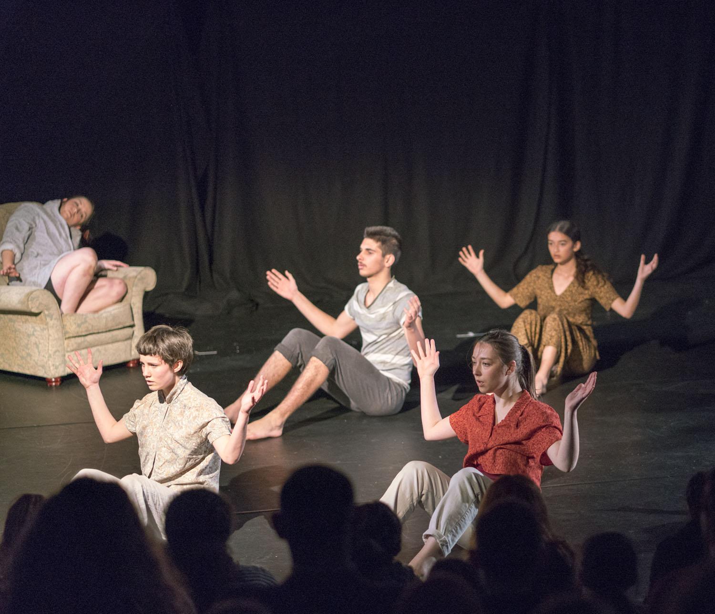 Imogen, Olive, Zerya, Alamay and Paula performing 'Catatonia'
