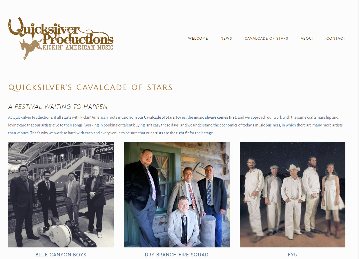 quicksilver productions website