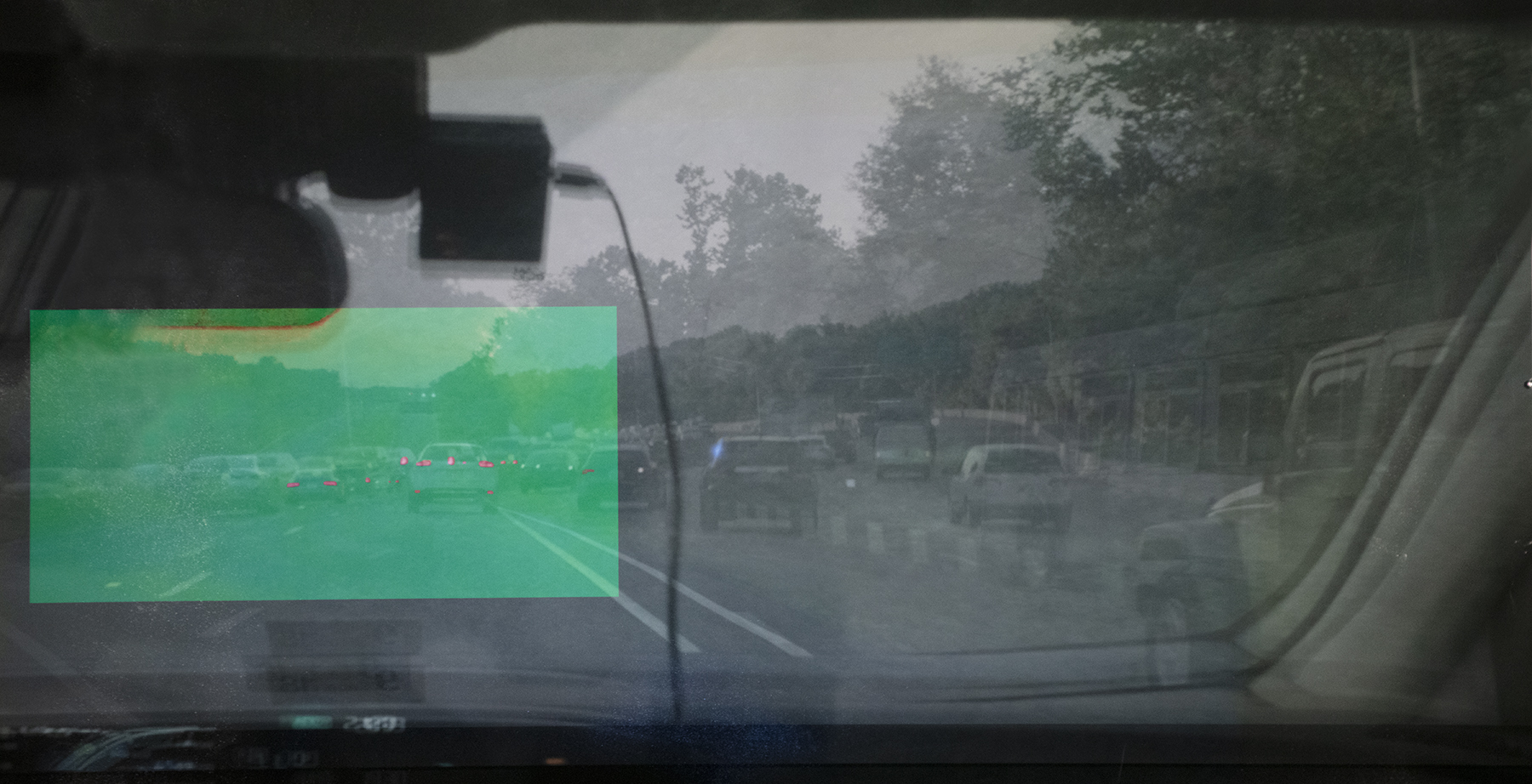 Memory Drive 1 - Video Projection on Archival InkJet Print