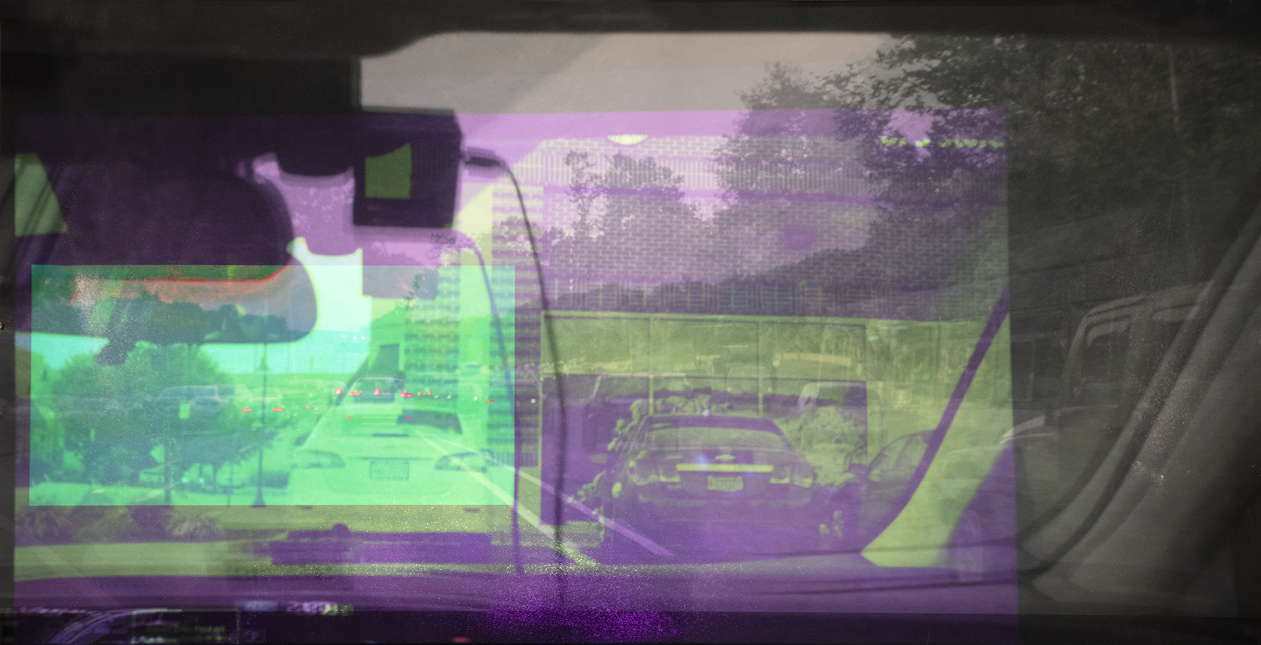 Memory Drive 2 - Video Projection on Archival InkJet Print