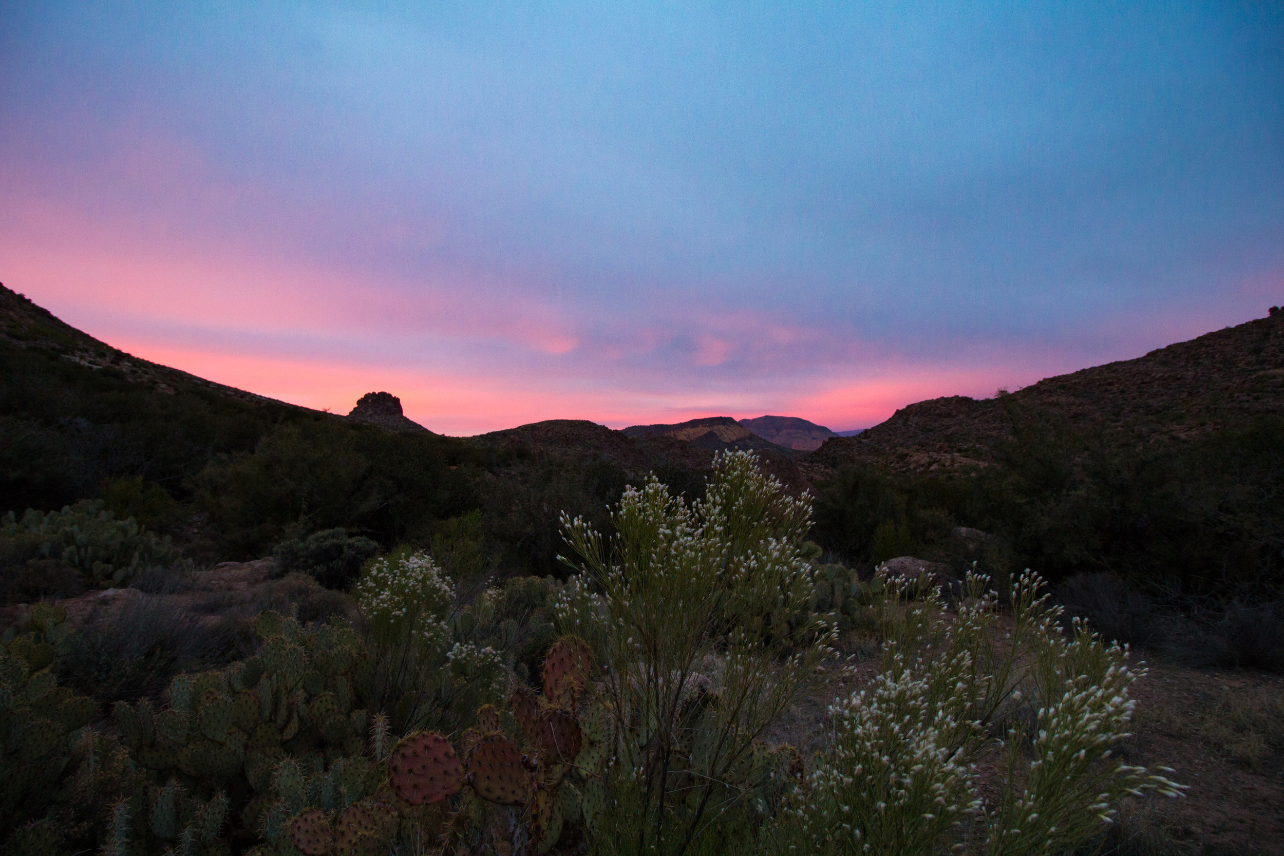 Sunset in the Superstition Mountains, Arizona