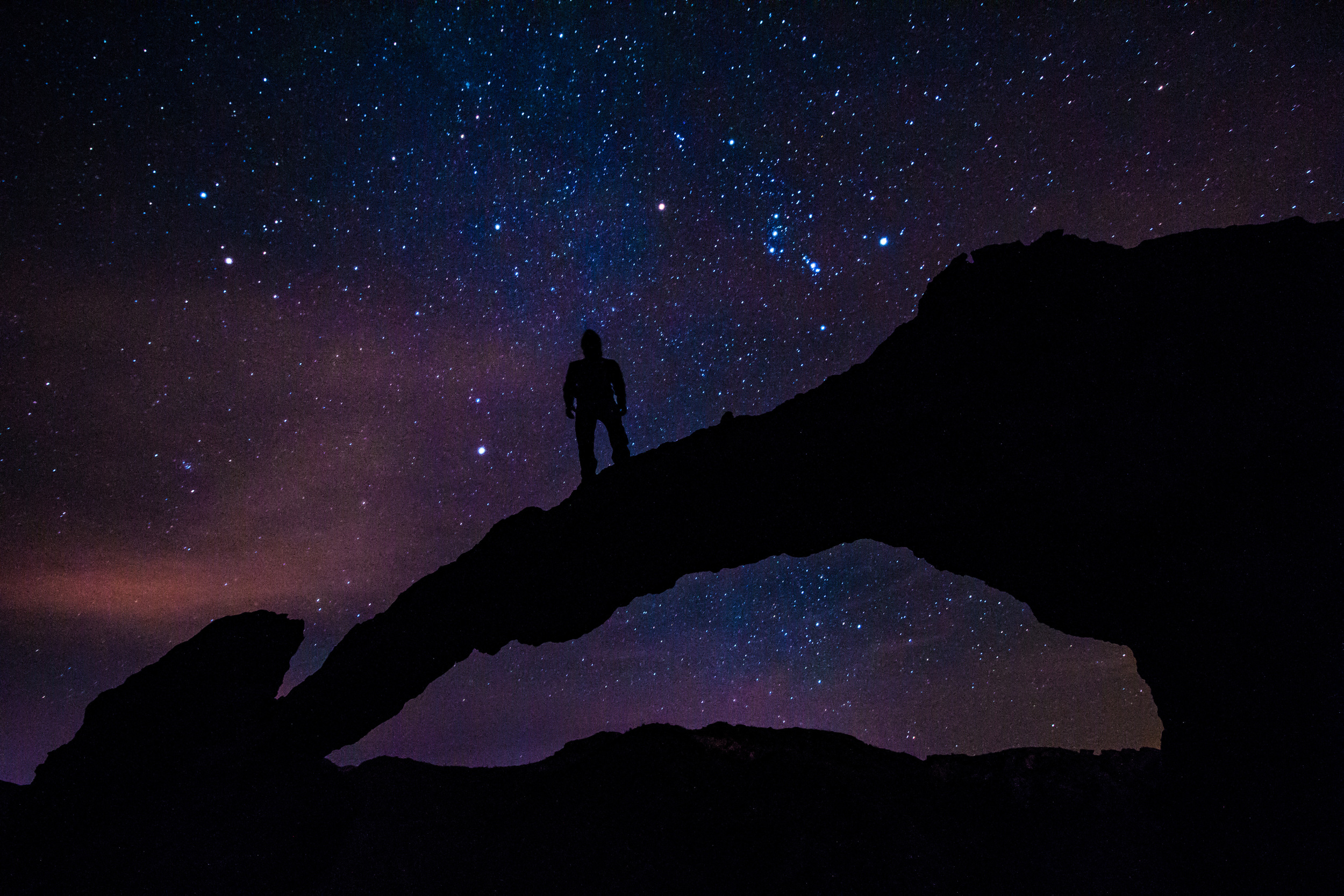 Night Photography at Elephant Arch, Superstition Mountains, Arizona