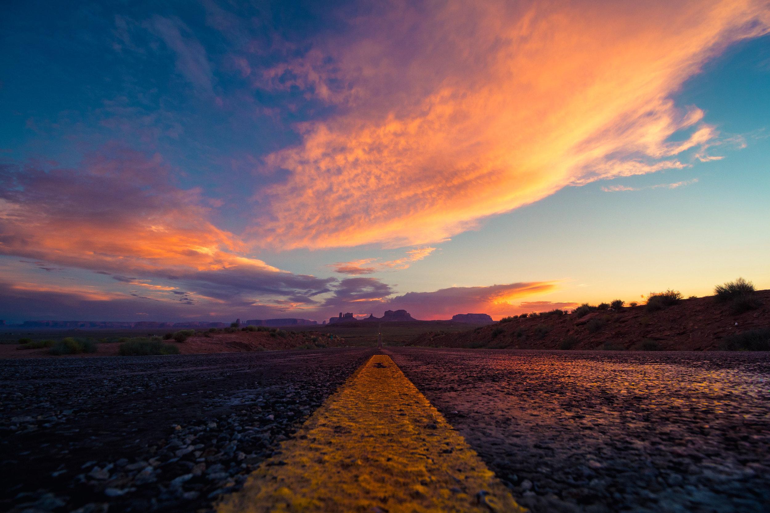 Monument Valley at Sunset, Utah/Arizona