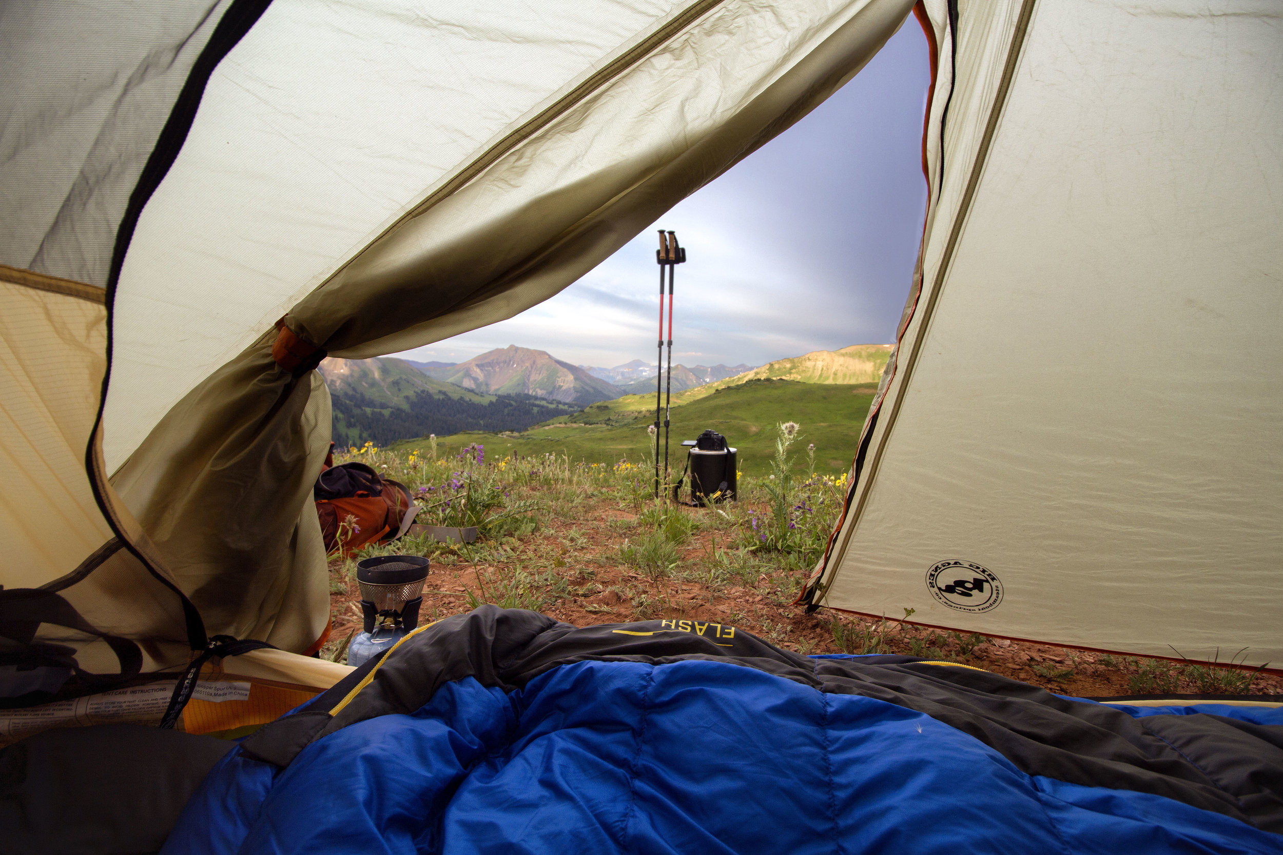 Camping on the Four Pass Loop, Colorado