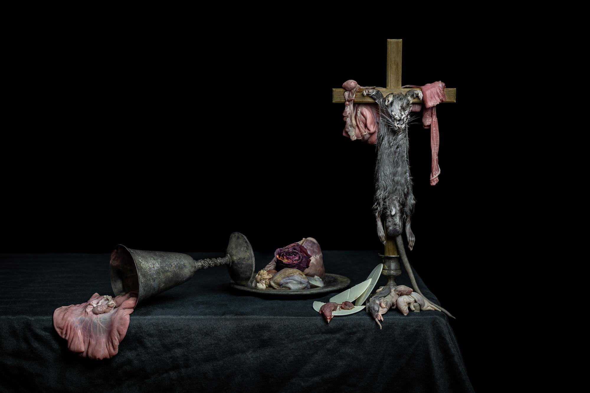 Still Life with Crucified Rat: This piece is now  available for purchase .
