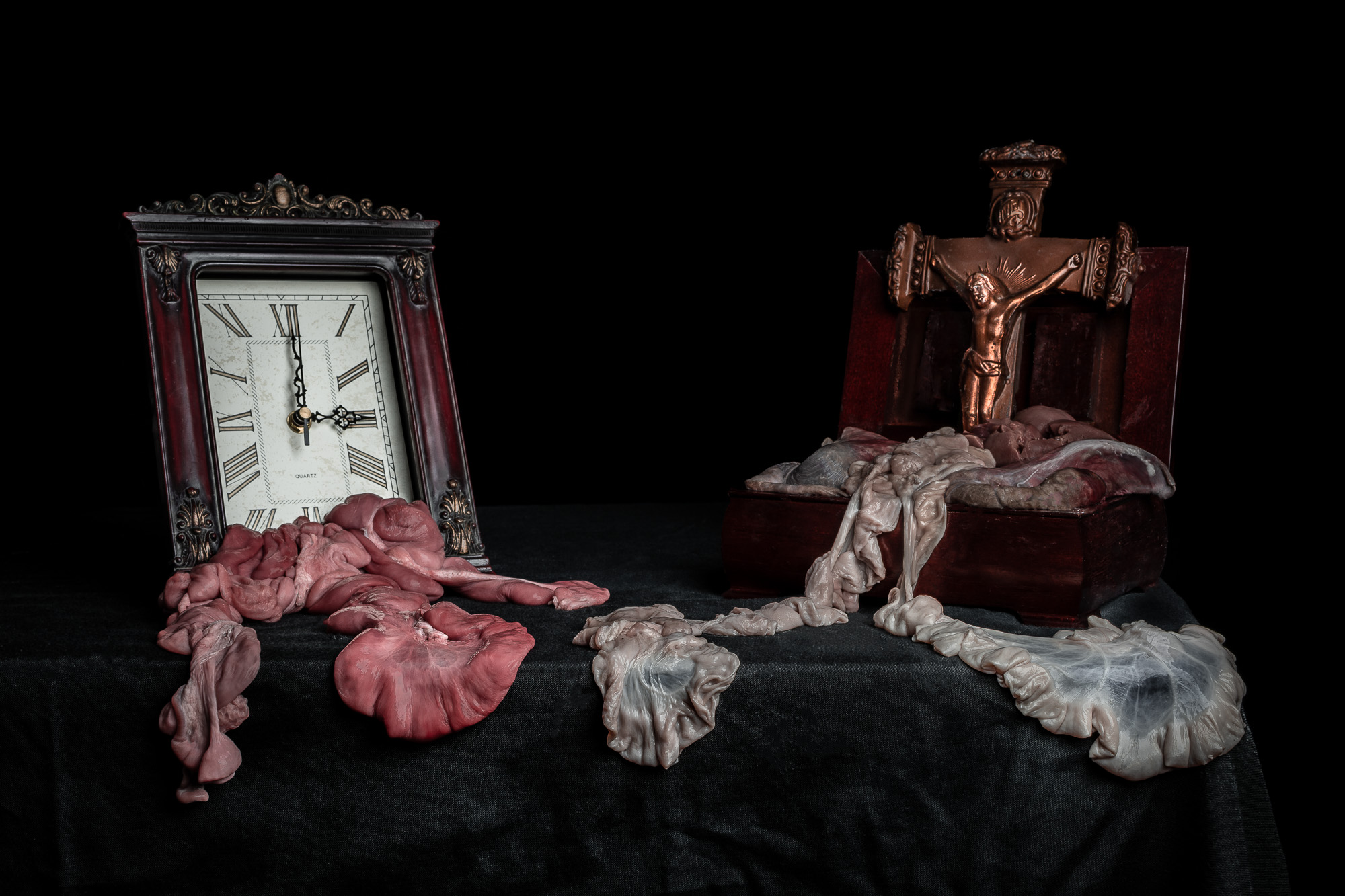 Still Life with Clock and Crucifix: This piece is now available in my  online store .