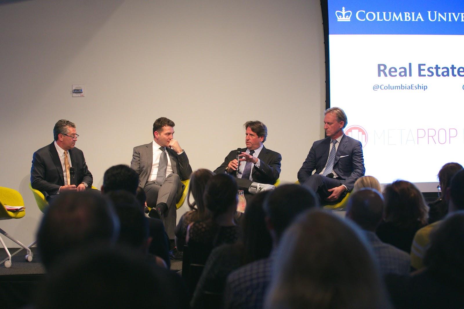 (From left) Marc Holliday, CEO, SL Green Realty Corp. | Denis Hickey, CEO LendLease the Americas| Robert Entin EVP & CIO, Vornado Realty Trust | Jamie von Klemperer, President KPF