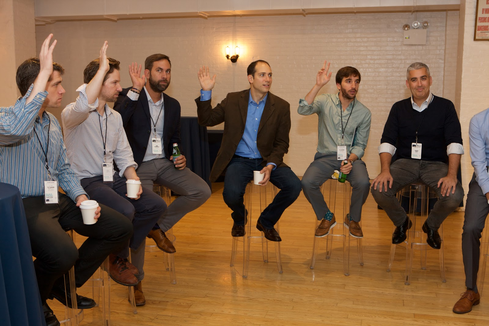 Founders Marshall Cox, Radiator Labs (2nd from left) | Arie Barendrecht, Wired Score | Ross Goldenberg, SiteCompli | Aaron Block, MetaProp NYC (far right) at RETech Leaders Breakfast Roundtable