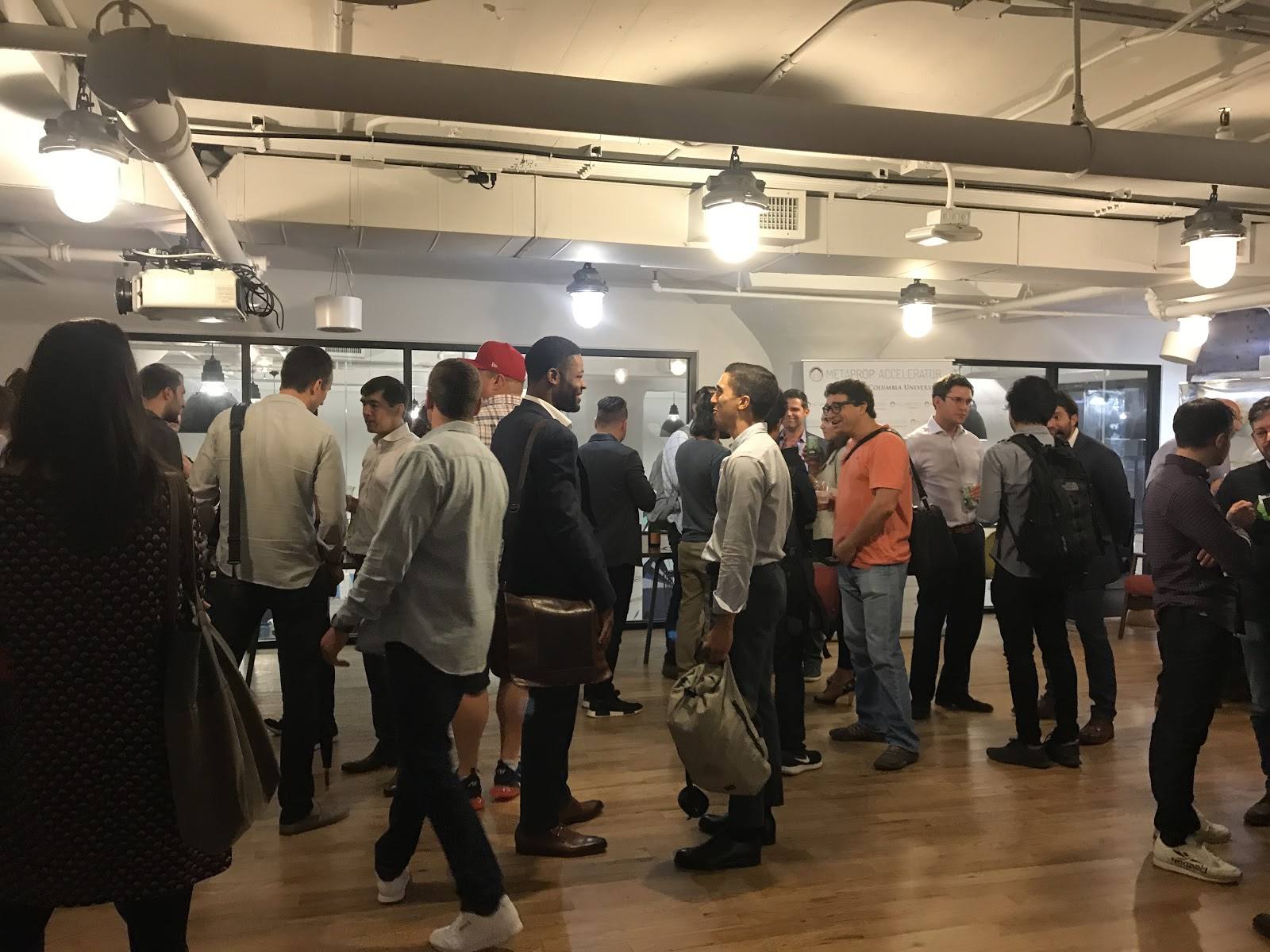 We celebrated with a Welcome Toast at the Columbia Startup Lab: