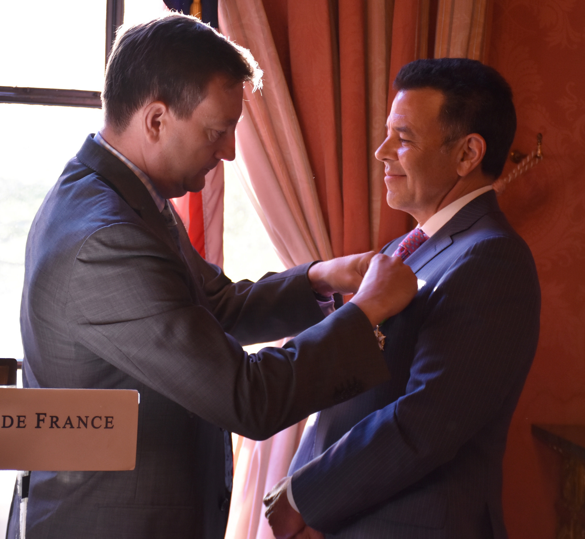 Daniel being inducted as  Chevalier  in the   Ordre du Mérite Agricole