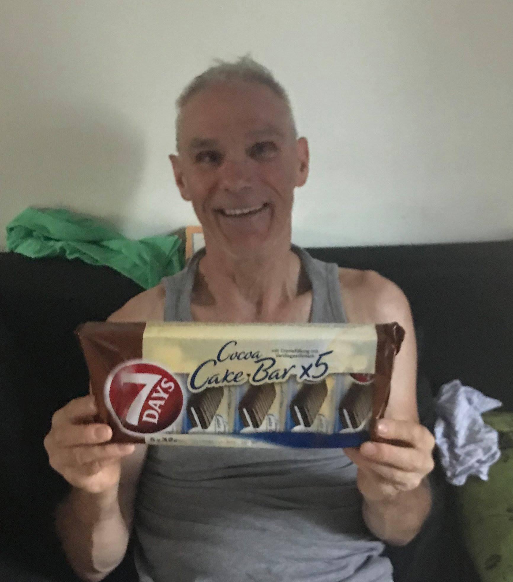Derek Boocock's (#113) welcome home present