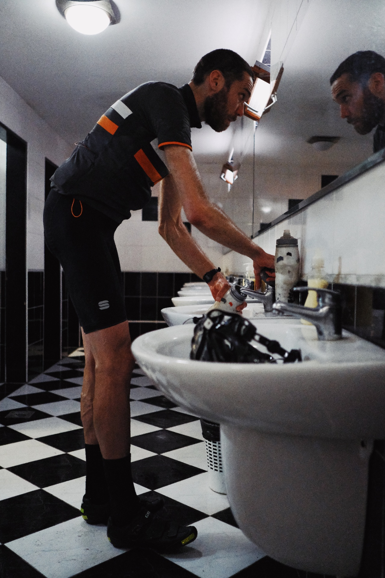 Jonathan Rankin stares into the abyss and the abyss looks back in the toilets at CP2