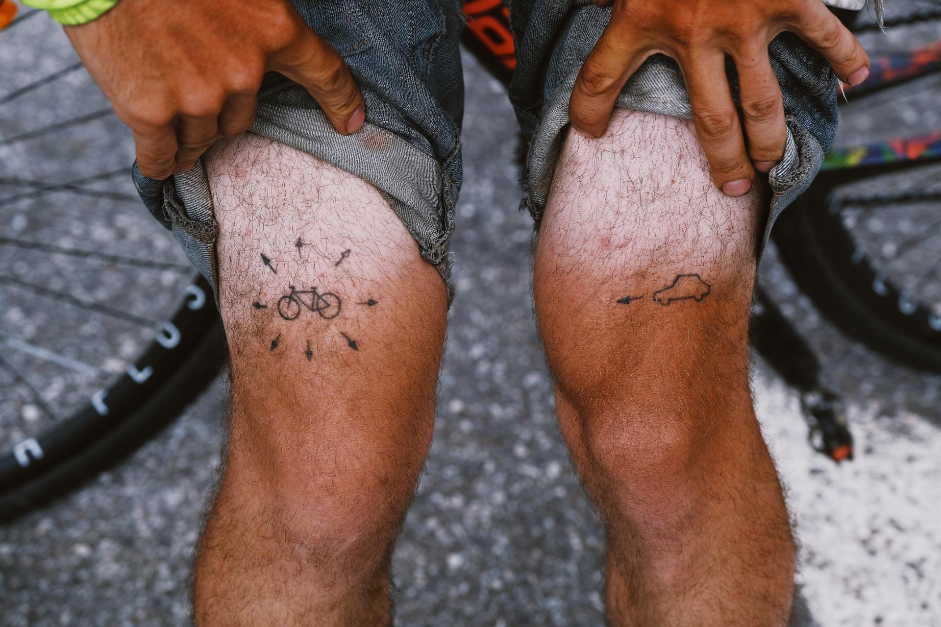 Simon Grieu sports crispy tan lines with unconventional denim shorts. Photo: James Robertson©