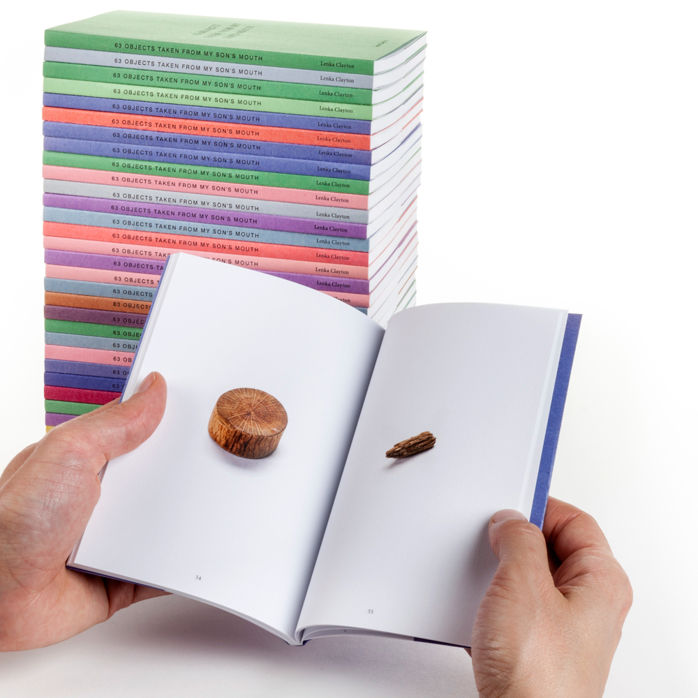 63 Objects Taken From My Son's Mouth , 2012 / limited edition artists book / designed by Brett Yasko