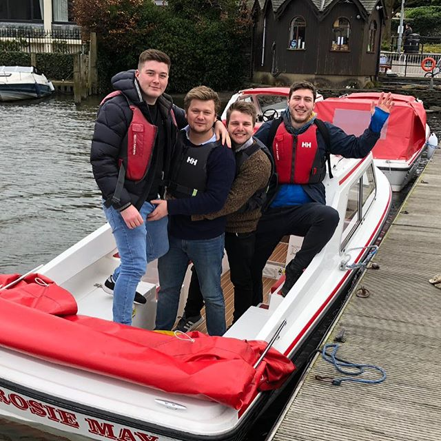When 4 become 1 #spiceboys #boats #windermere