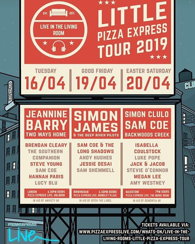 Looking forward to this one with @thisislitlr 🙌 I'll be playing some new tunes for the first time live! Get your tickets here 👉 https://www.pizzaexpresslive.com/whats-on/live-in-the-living-rooms-little-pizzaexpress-tour