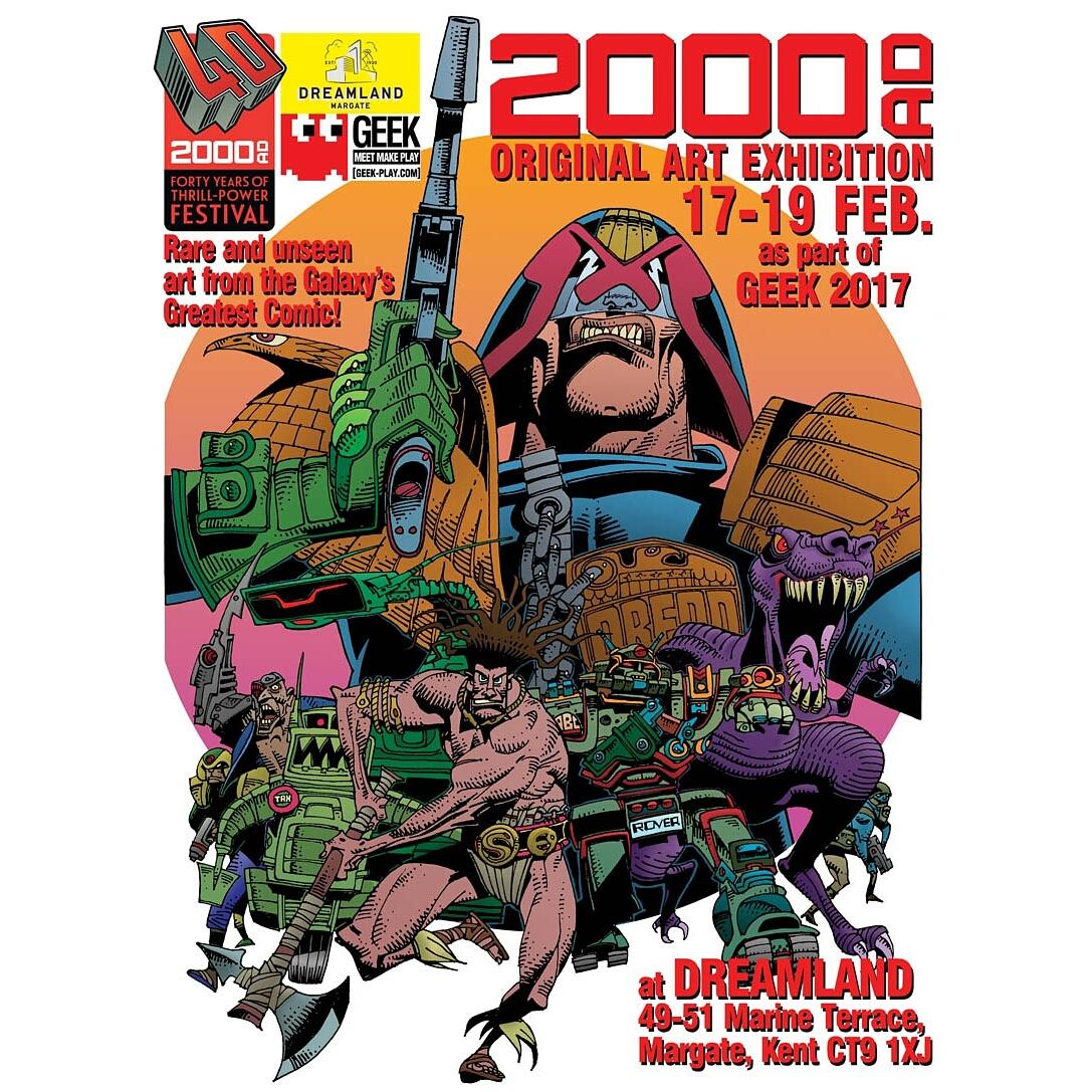 Rufus Dayglo 2000ad Dreamland Exhibition