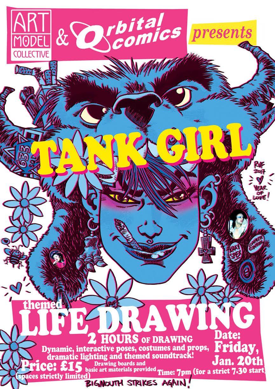 tank girl rufus dayglo life modelling art
