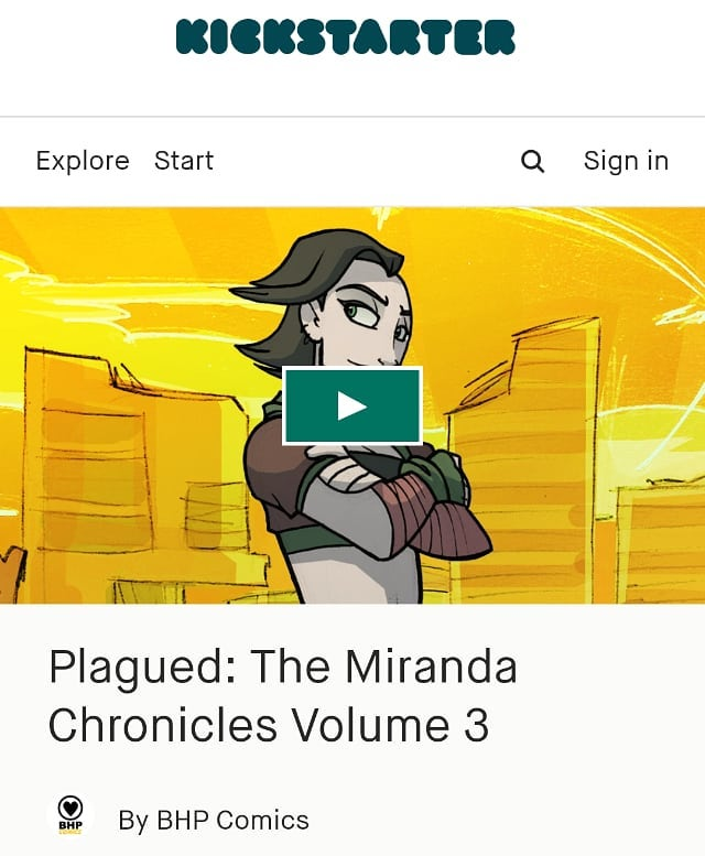 Help back PLAGUED Vol.3 on Kickstarter. One of the Stretch goals is an exclusive PLAGUED print by me! Help get this over the top!! Please share and help spread the word! Support independent creators and companies!! Published by @bhpcomics https://www.kickstarter.com/projects/1291641761/plagued-the-miranda-chronicles-volume-3?ref=project_link #plagued #independentcomics #indiecomics #bhpcomics #scottish #scotland #comics #comicbook #scifi #witchcraft #rufusdayglo #kickstarter