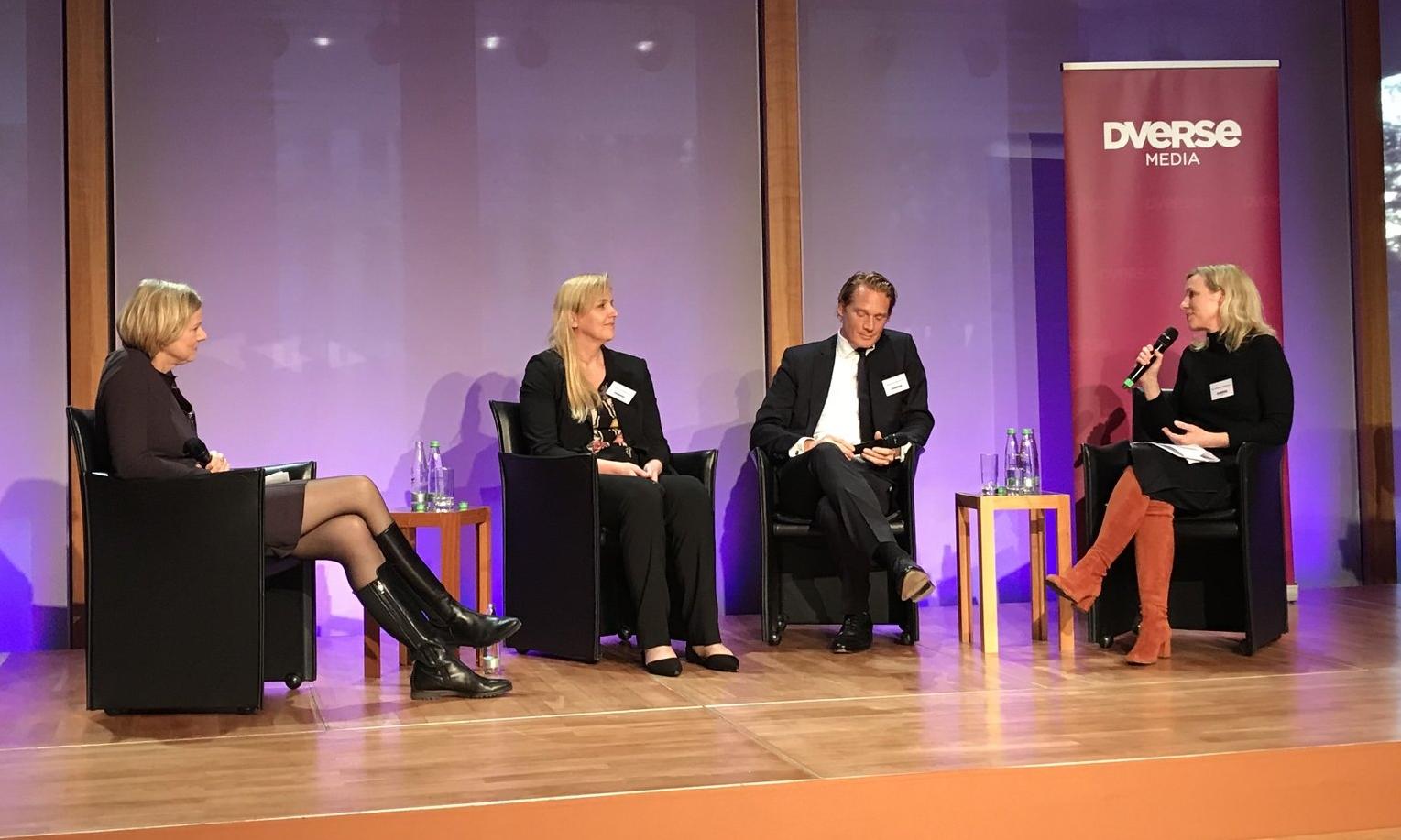 Eva Buchhorn (Manager Magazin), Karen Ferdinand (KPMG), Markulf Behrendt (Allen & Overy), Wiebke Ankersen (AllBright)