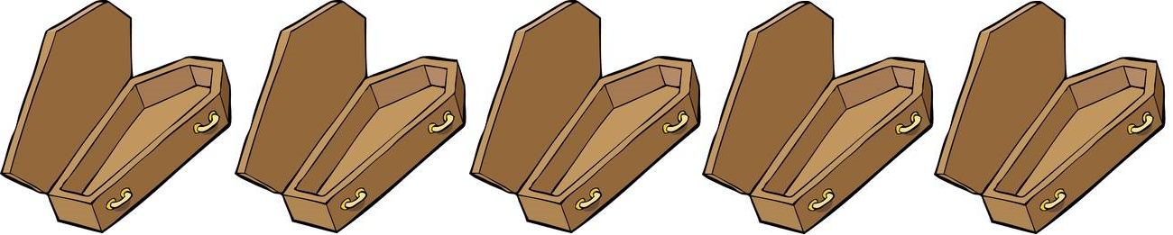 5 out of 5 (open) coffins! Silly, I know, but I can be quite the stereotypical goth.