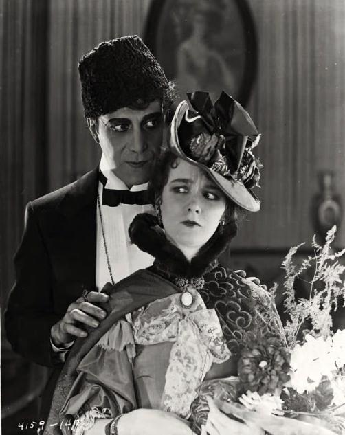 Mary Philbin as Christine Daaé and Arthur Edmund Carewe as Ledoux (1925 film) -