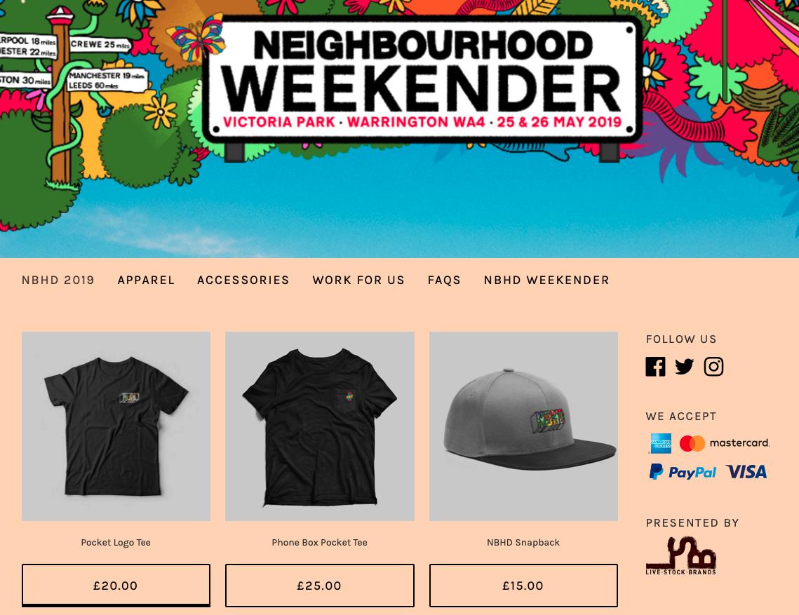 Neighbourhood Weekender -  www.nbhd-store.livestockbrands.co.uk