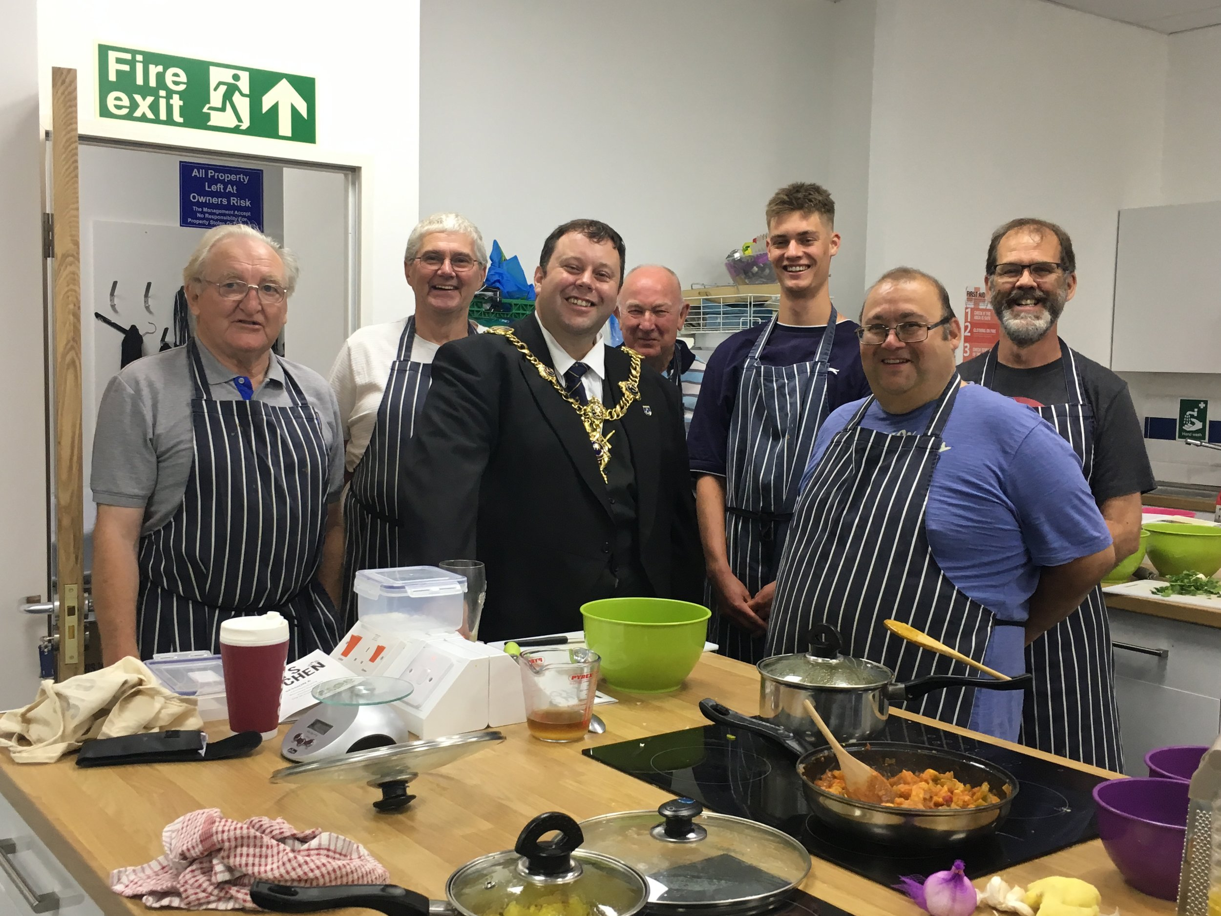 Top team were busy when the Lord Mayor dropped in!
