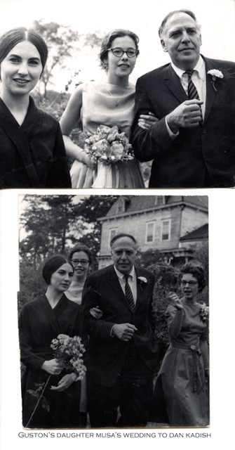 At the wedding of Philip Guston's daughter, circa 1962