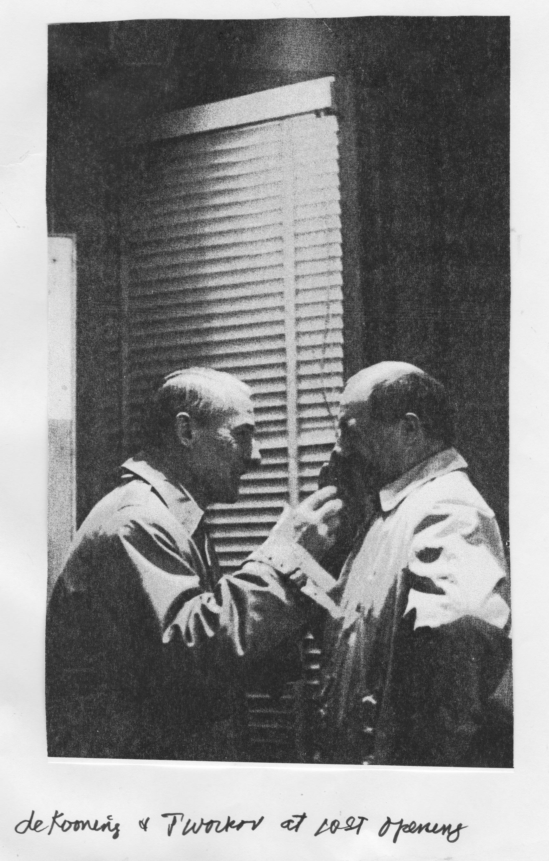 de Kooning and Jack Tworkov at Brata Gallery opening, 1962